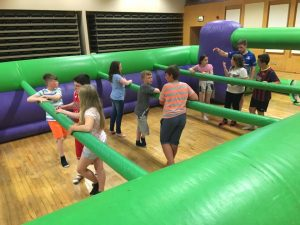Human Fussball - winter birthday ideas