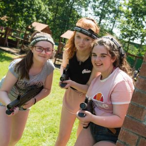 Girls Enjoying Combat Corps at Share