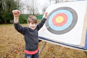 Bulseye in archery - winter birthday ideas